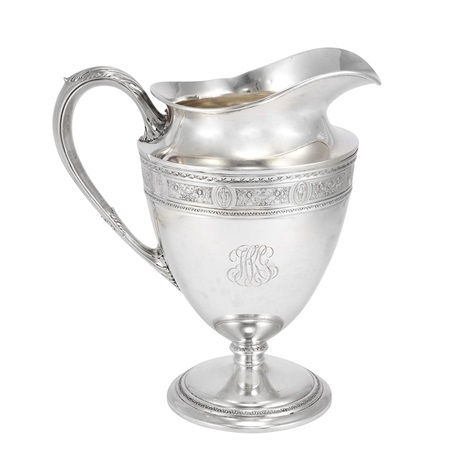 water pitcher in wedgwood pattern by international silver