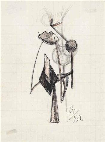 personnage abstraction tête étrange by julio gonzález