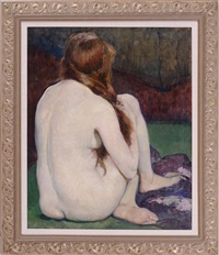 seated nude by leon kroll