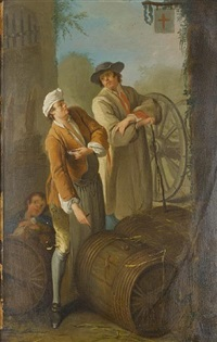 a wine seller (+ a grape seller; pair) by etienne jeaurat