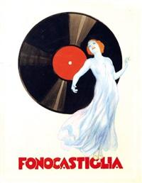 fonocastiglia – incisione elettrica senza fruscio (bozzetto) by leopoldo metlicovitz