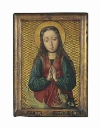 saint margaret of antioch by michiel sittow