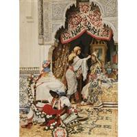 harem girls preparing for the festivities by jaromir kocourek