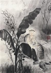 牧牛图 by dai shunzhi