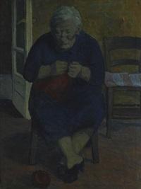 donna seduta by giovanni aligò
