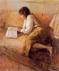 muchacha leyendo by ricardo cejudo nogales