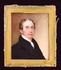a gentleman wearing black coat and white cravat by octavius oakley
