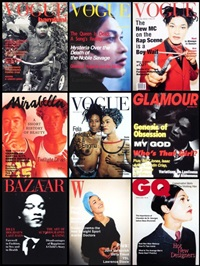 fashion magazine covers series (9 works) by iké udé