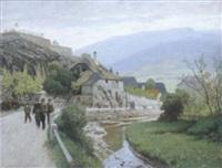 weg in spitz/donau by rudolf weber