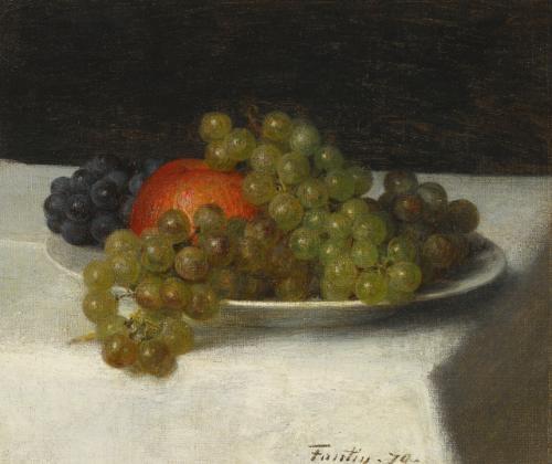 pommes et raisins by henri fantin latour
