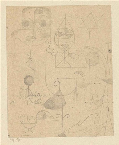 gestirne und sternbilder stars and constellations by paul klee