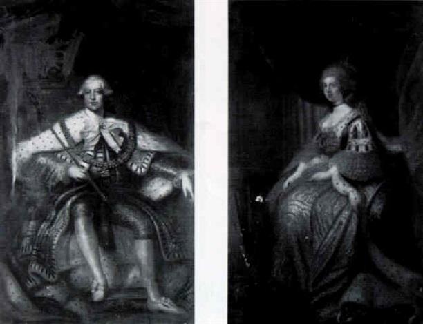 Portrait Of King George Iii, Seated, Full Length In The Coronation Chair U0026  Portrait