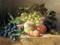 still life of fruit by arentina hendrica arendsen