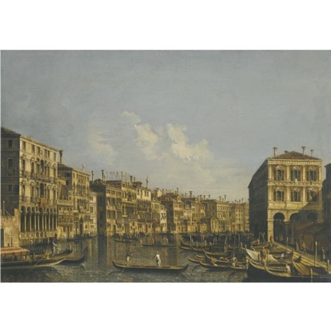 venice a view of the grand canal looking towards the pescheria by francesco tironi