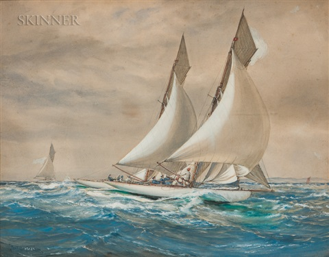 Racing Yachts by Montague Dawson on artnet