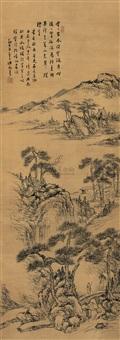 溪山空翠图 (landscape) by xu rong