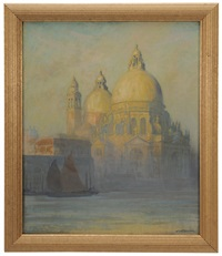 santa maria della salute in the morning mist, venice by wilhelm battermann