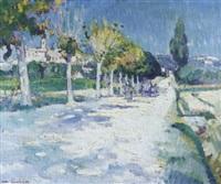 paysage provençal by jean aubery