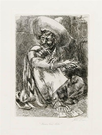 seven toed pete black pot hombres in the sun 4 works various dates sizes and states by john french sloan