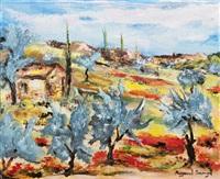 oliviers bleus à la sainte victoire by r. amouyal
