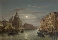 vue de venise au crépuscule by victor vervloet