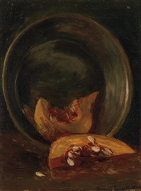 still life with cantaloupe by blanche lazzell