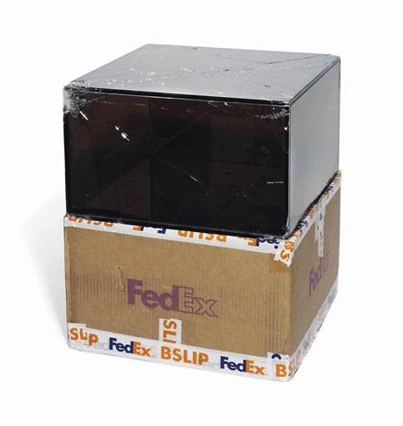 fedex medium kraft box fedex r4578 priority overnight los angeles basel trk 868587728131 may in 2 parts by walead beshty