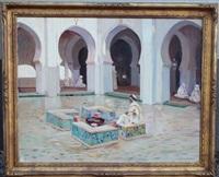 la cour de la mosquée by pierre prince de wolkonsky