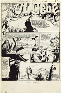 spectre #5 planche originale n°1 by adams