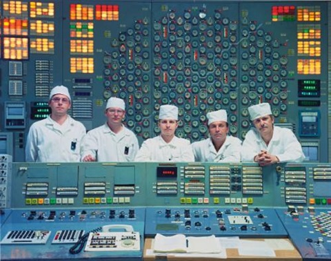 engineering team in the control room of the unit 3 reactor by robert polidori