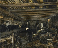 intérieur d'étable by joseph albert