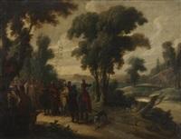 zachée juché sur un sycomore regarde passer le christ by hans jordaens iii