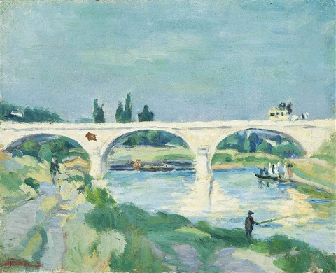 le pont de charenton ile de france by armand guillaumin