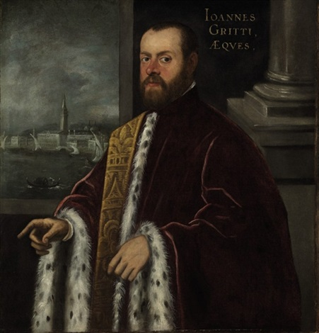 portrait of joannes gritti by domenico tintoretto