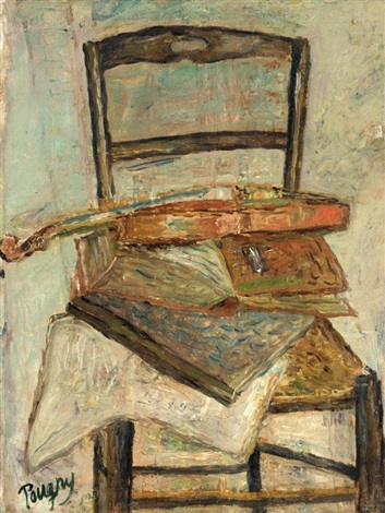still life with chair and violin by jean pougny & Still life with chair and violin by Jean Pougny on artnet