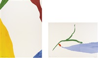 four pochoirs (portfolio of 4) by helen frankenthaler