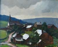 le village après la pluie, la gleize by alfred martin