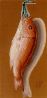 nature morte: red snapper by george joseph amede coulon