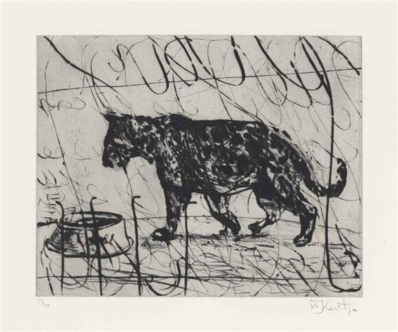 pacing panther by william kentridge