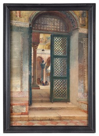 preghiera in chiesa a venezia by scipione simoni