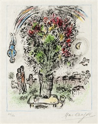bouquet a l'arc-en-ciel by marc chagall