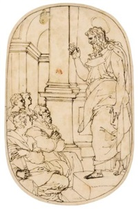 saint paul preaching in athens by perino del vaga