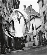 model in bubble, paris by melvin sokolsky