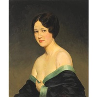 a portrait of the artist's wife, estelle by kenneth newell avery