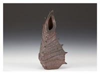 bizen ware vase from the sea by izuru yamamoto