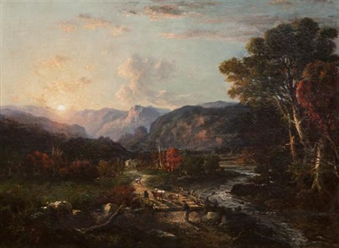 sunrise, white mountains, new hampshire by george loring brown