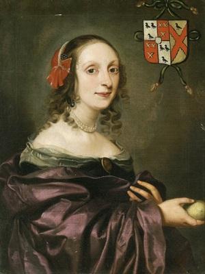 Bildnis einer dame im roten kleid