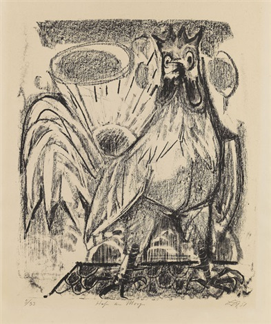 hahn am morgen by otto dix