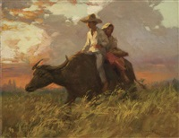 on the way home by fernando cueto amorsolo