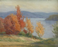 autumn colors, lake lung by gustave weigand